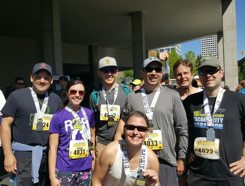 Tacoma City Marathon Ahbl Takes First And Second Place For Corporate Relay Teams