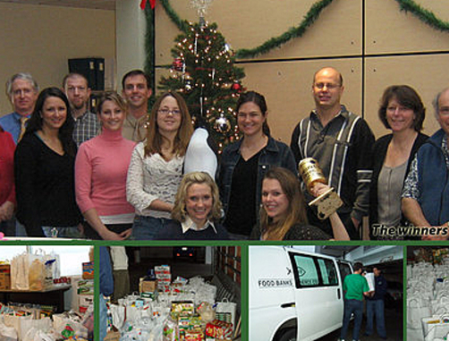 Employees donate 1 749 pounds of food and 2 911 to help for Fish food bank tacoma
